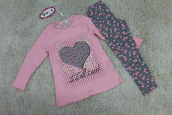 Костюм с лосинами для девочки Сердце из цветов Размер 4 года