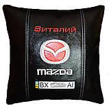 Автомобильная подушка в машину с вышитым логотипом мазда Mazda, фото 2