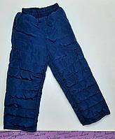 Штаны-дутики детские на 4-5 лет плащевка+синтипон, синие