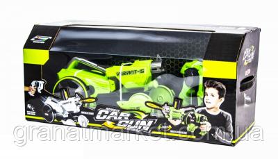 Детская игрушечная машинка-бластер 2-в-1 Car Gun K15, Салатовая