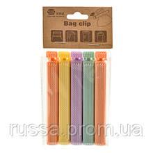 Зажим-клипса для пакетов R87818, 16*8 см, 5 шт. в наборе