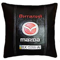 Сувенирная Подушка для машины с логотипом мазда Mazda