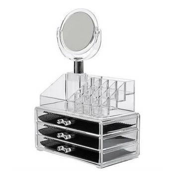 Органайзер для косметики с зеркалом