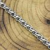 Серебряный браслет с чернением Венеция длина 20 см ширина 5 мм вес серебра 8.6 г, фото 2
