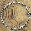 Серебряный браслет с чернением Венеция длина 20 см ширина 5 мм вес серебра 8.6 г, фото 3