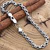 Серебряный браслет с чернением Венеция длина 20 см ширина 5 мм вес серебра 8.6 г, фото 4