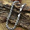Серебряный браслет с чернением Венеция длина 20 см ширина 5 мм вес серебра 8.6 г, фото 5
