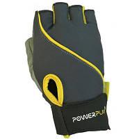 Перчатки для фитнеса PowerPlay 1725B XS Grey/Yellow (PP_1725B_XS_Grey/Yellow)