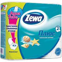 Туалетная бумага Zewa Plus 2-слойная Cвежесть океана Голубая 4 шт (4605331017305)