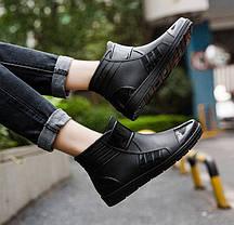 Стильные резиновые матовые ботинки осень-зима 39 - 41, фото 2