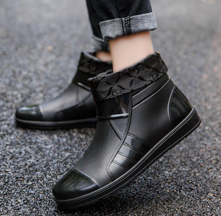 Стильные резиновые матовые ботинки осень-зима 39 - 41