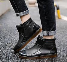 Стильные резиновые матовые ботинки осень-зима 39 - 41, фото 3