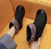 Матові гумові черевики осінь-зима 36 - 39, фото 3