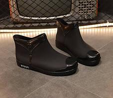 Матовые резиновые  ботинки осень-зима 36 - 39, фото 3