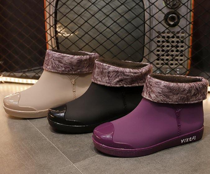 Матовые резиновые  ботинки осень-зима 36 - 39