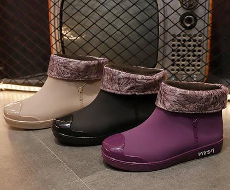 Матові гумові черевики осінь-зима 36 - 39, фото 2