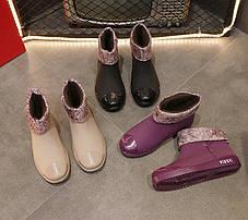 Матовые резиновые  ботинки осень-зима 36 - 39, фото 2