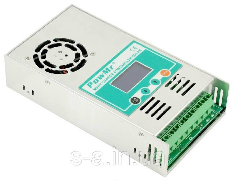 30А 12В/24В/36В/48В MPPT Контроллер заряда солнечных батарей (модулей) PowMr Контролер заряду сонячних панелей