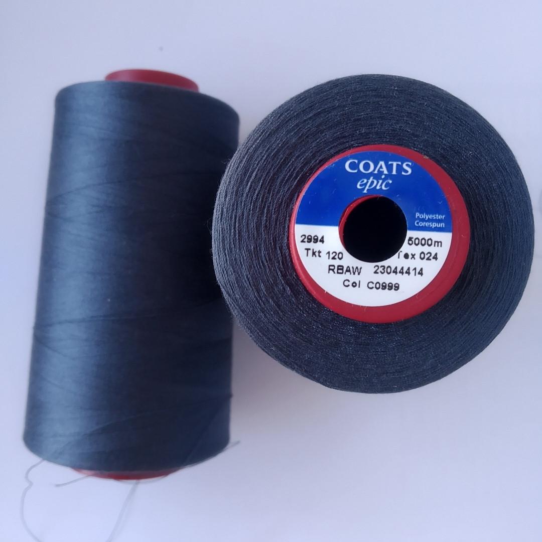 Нитки Coats Epic 120/С0999/5000м.
