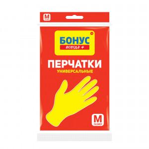 Перчатки хозяйственные Бонус универсальные ( размер M ) эконом, 1 шт.
