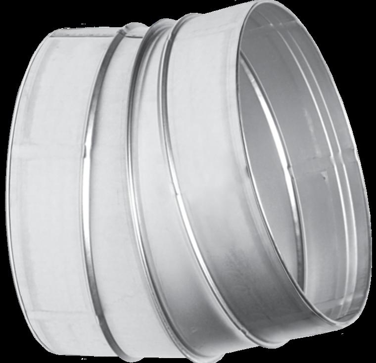 Отвод для вентиляционных каналов  15-125