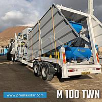 Бетонный завод Мобильный БСУ M100-TWN (100m³/h) Promax