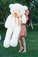Большой медведь тедди 200 см кремовый