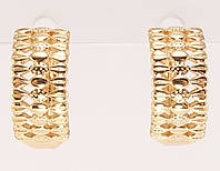 """Сережки M&L жовтий відтінок колечка """"Декоративний орнамент"""", фото 1"""
