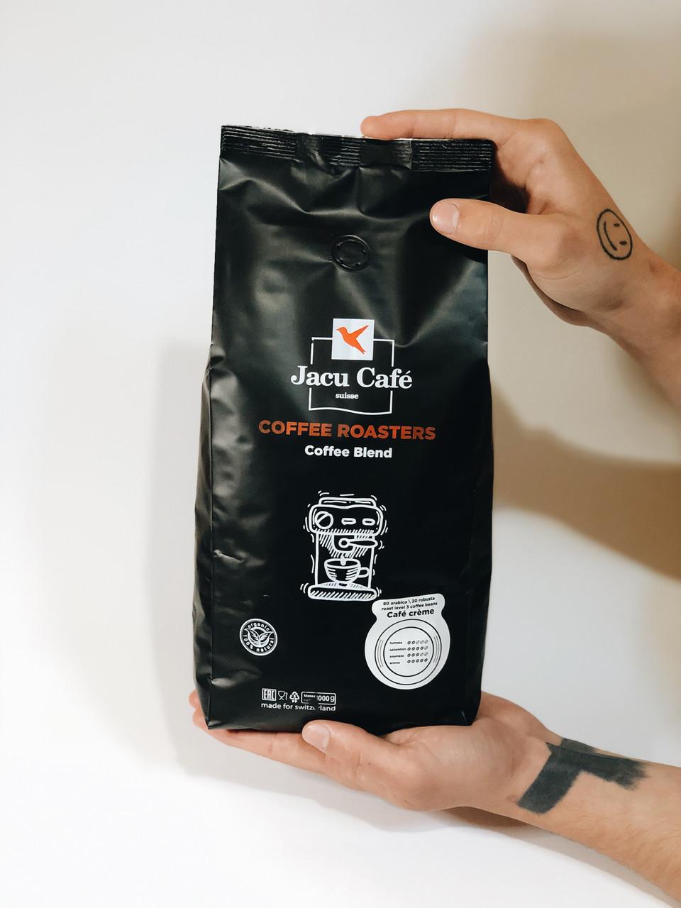 Кофе в зернах  Jacu Cafe Crema 1 кг Украина