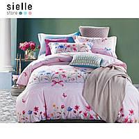 Постельное белье из сатина с полевыми цветами «Флер». Евро комплект постельного белья.