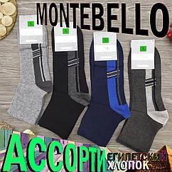Носки мужские демисезонные средние Montebello 41-44р ассорти 30025114