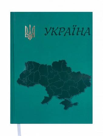 Ежедневник недатированный Buromax Ukraine A5 на 288 страниц Зеленый(BM2021-04)