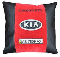 Декоративная автомобильная подушка с маркой машины KIA