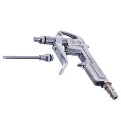 Пистолет продувочный короткий с доп насадкой AIRKRAFT DG-10-1-3 (пневмопистолет, пневматический, для продувки)
