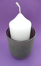 Подсвечник стакан из термостекла 8,5*6,5 см