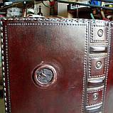Обложка кожаная на кнопочной застежке  книги библия ручная работа оригинальный подарок, фото 10