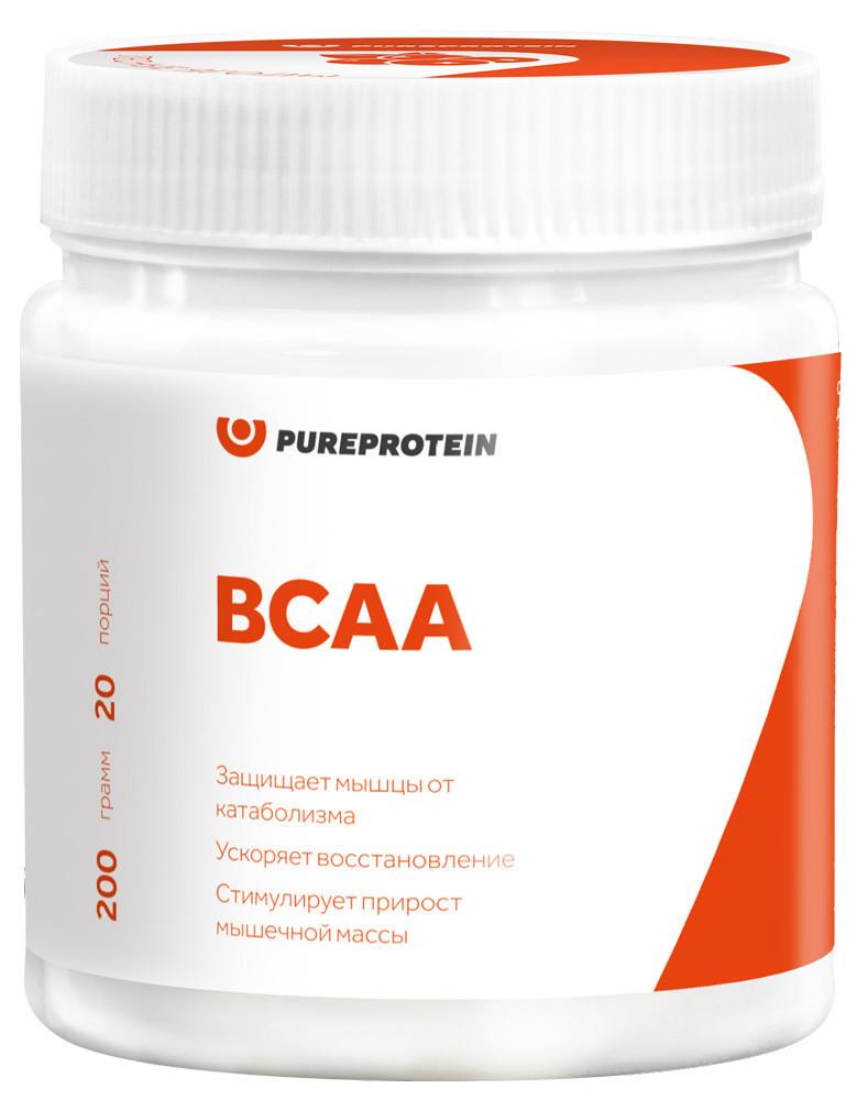 Аминокислоты BCAA, вкус «Лимон», 200 гр, Pure Protein