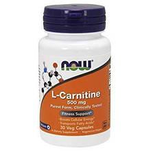 L-карнитин, 500 мг, 30 вегетарианских капсул, IGtenera Swiss