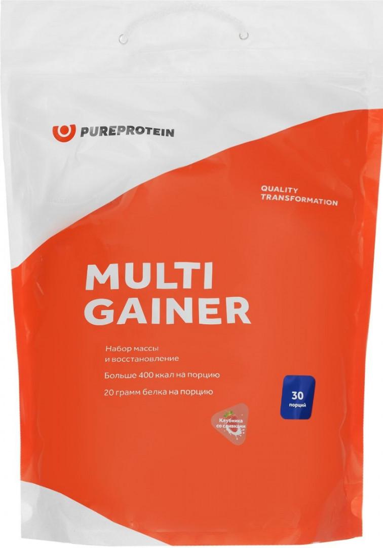 Мультикомпонентный гейнер, вкус «Клубника со сливками», 3 кг, Pure Protein