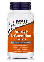 Ацетил-L-карнитин 500 мг, 50 вегетарианских капсул, IGtenera Swiss