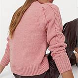 Свитер женский розовый H&M, фото 3