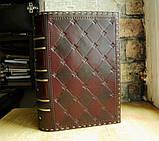 Кожаная обложка для книги ручной работы подарок, фото 9