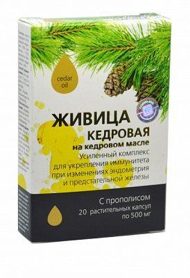 Живица кедровая на кедровом масле с прополисом (в капсулах) - для эндокринной системы