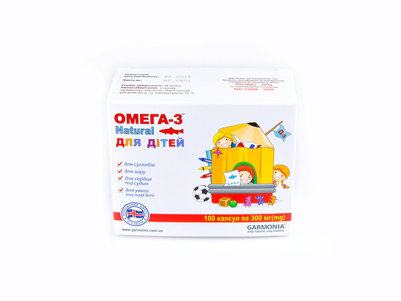 Омега-3 Natural для детей 100 капсул по 300 мг