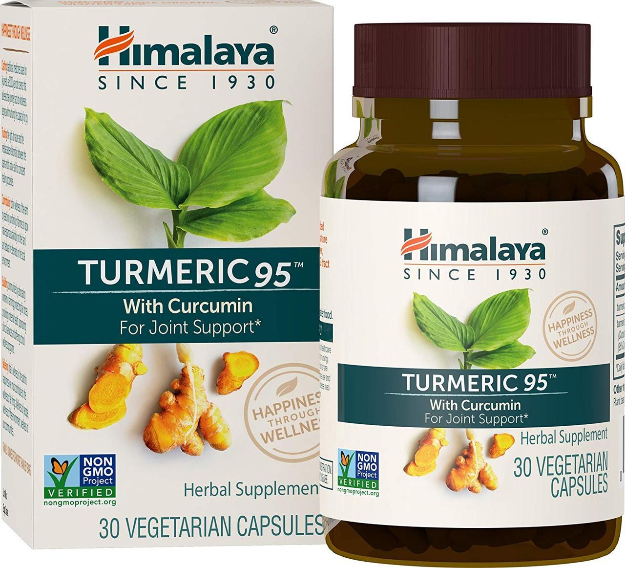 Куркума 95 с куркумином, 30 вегетарианских капсул, Гималаи