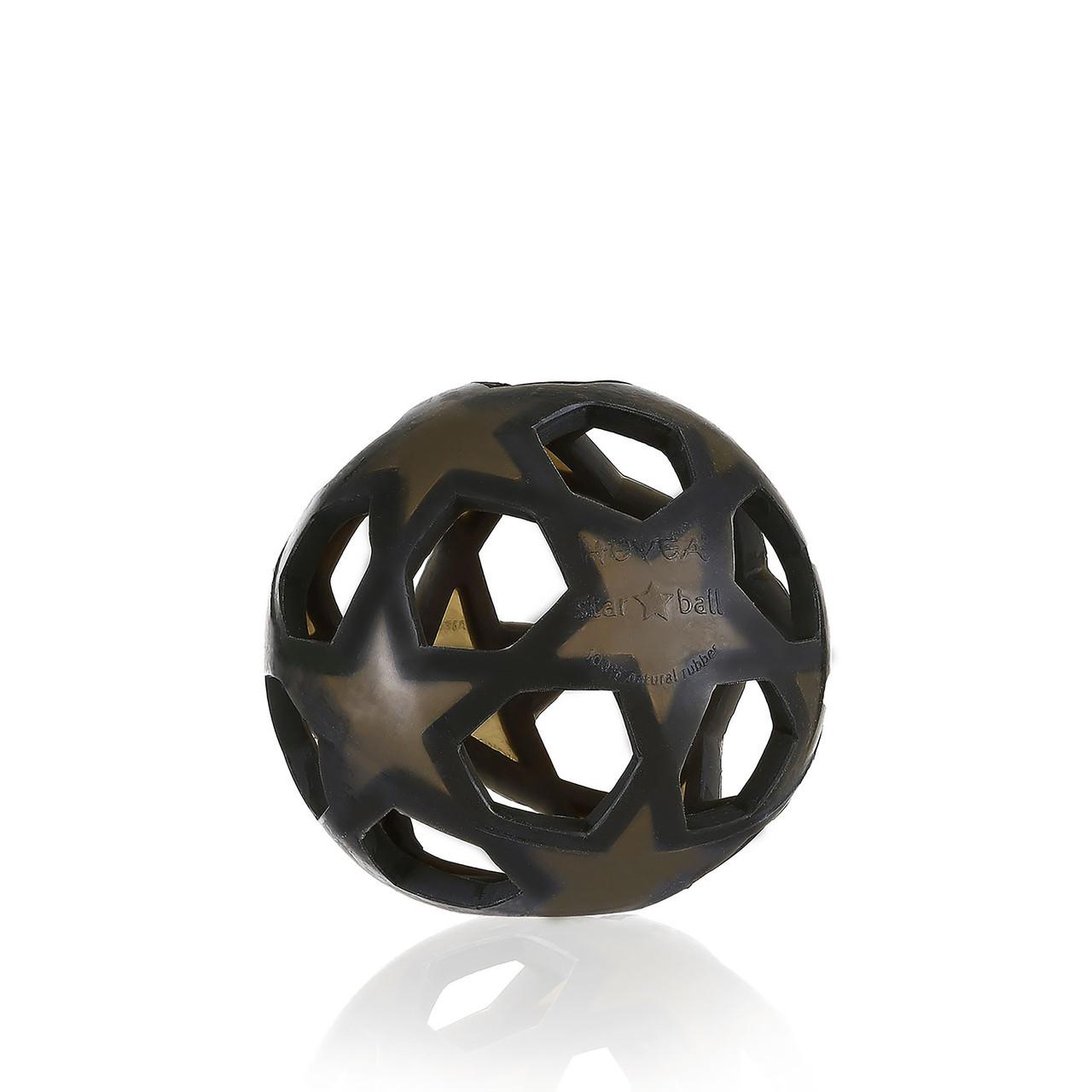Прорезыватель  Hevea star ball black