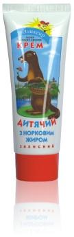 Крем-бальзам детский с норковым жиром – защита кожи от обветривания, заживление ссадин (75 мл, IGtenera Swiss)