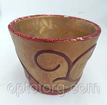 Подсвечник стакан из термостекла красный 6,5 *5,5 см
