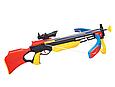 Арбалет для детской спортивной стрельбы, M 0005 UR, 3 стрелы на присосках, прицел, лазер, фото 2