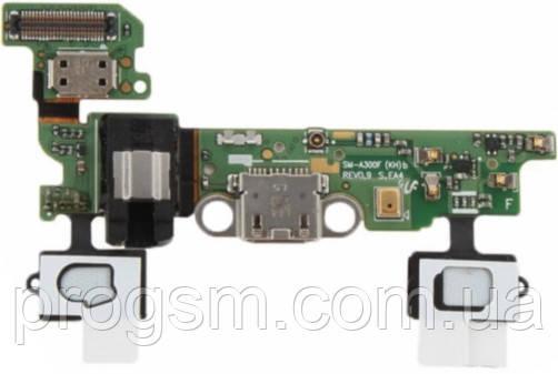 Разъем зарядки Samsung Galaxy A3 2015 SM-A300F (со шлейфом) Original